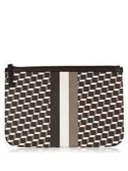 Pierre Hardy Cube Print Coated Canvas Pouch Black Multi