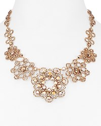 Kate Spade New York Faceted Medallion Statement Necklace 17 Rose Gold