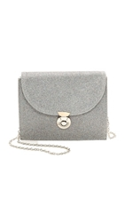 Lauren Merkin Handbags Disco Glitter Piper Cross Body Bag Pewter