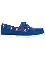 Timberland Monochrome Moccasin Loafers Blue