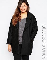 Junarose Two Button Coat Black