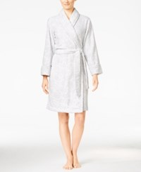 Charter Club Embossed Rose Short Robe Only At Macy's Ivory Rose