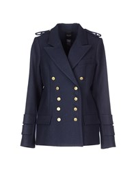 Smythe Coats And Jackets Coats Women Dark Blue