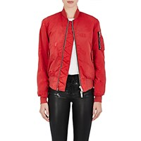 Unravel Project Srl Women's Distressed Insulated Bomber Jacket Red