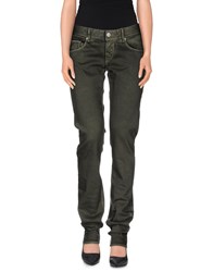 Care Label Trousers Casual Trousers Women Military Green