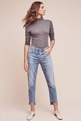 Anthropologie Citizens Of Humanity Liya Ultra High Rise Crop Jeans Denim Light