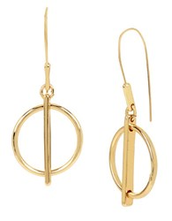 Kenneth Cole Meridian Ombre Geometric Circle Long Drop Earrings Gold
