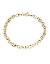 Design Lab Lord And Taylor Chainlink Toggle Necklace Gold