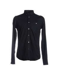 7 For All Mankind Long Sleeve Shirts Black