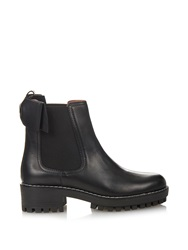 Red Valentino Beatle Bow Leather Chelsea Boots