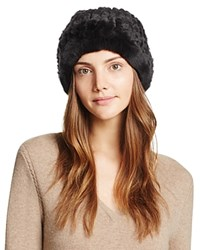 Surell Rabbit Fur Slouch Hat Brown