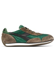 Diadora Paneled Lace Up Sneakers Green