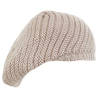 Miss Selfridge Slouchy Beanie Hat Nude
