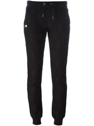 Philipp Plein Lace Embroidered Trackpants Black