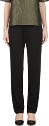 Lanvin Black Piped Lounge Pants