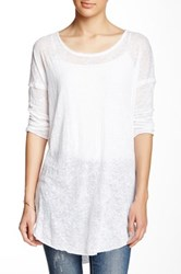 Kersh And Press 3 4 Sleeve Burnout Tunic White