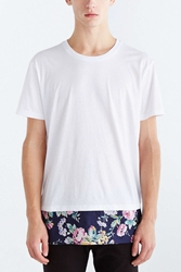 The Narrows Floral Pieced Box Fit Tee White