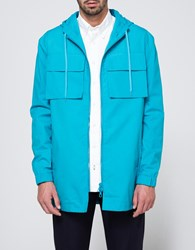 Tres Bien Hooded Parka Turquoise