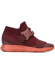 Christopher Kane Buckled Detail Sneakers Red