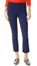 Tory Burch Stacey Crop Flare Ponte Pants Navy Sea