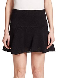Iro Davina Pleated Mesh Mini Skirt Black