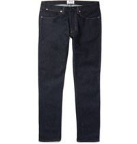 Acne Studios Max Raw Slim Fit Stretch Denim Jeans Blue