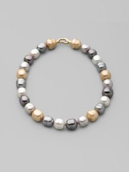 Majorica 14Mm Multicolor Baroque Pearl Necklace 17