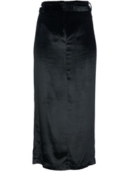 Ann Demeulemeester Long Straight Skirt Black