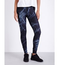 Sweaty Betty Zero Gravity Run Jersey Leggings Black Marble Print