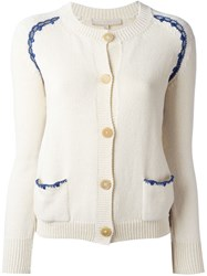 Vanessa Bruno 'Eclair' Cardigan Nude And Neutrals