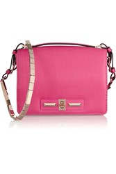 Valentino Neon Leather Shoulder Bag Pink