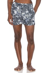 Native Youth Floral Sashiko Swim Navy