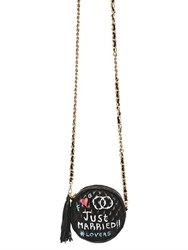 Forte Couture Small Graffiti Round Quilted Leather Bag