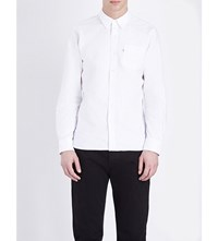 Levi's Regular Fit Single Cuff Cotton Shirt White Cn 100X