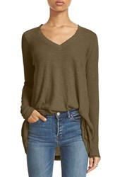 Free People Women's 'Anna' Burnout High Low Tee