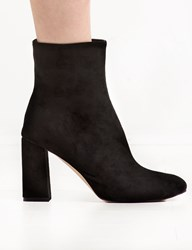 Pixie Market Black Suede High Ankle Heel Boot 15 Off