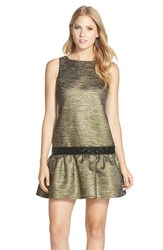 Women's Cece By Cynthia Steffe 'Vana' Beaded Drop Waist Jacquard Shift Dress