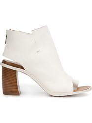 Officine Creative Cutout Details Ankle Boots White