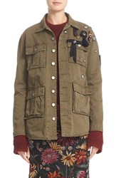 Cinq A Sept Women's Embellished Cotton Twill Military Jacket
