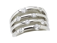 Guess 89151420 Crystal Silver Ring