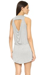 Chaser Drape Back Mini Dress Heather Grey