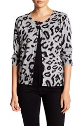 Cable And Gauge Printed Core Cardigan Multi