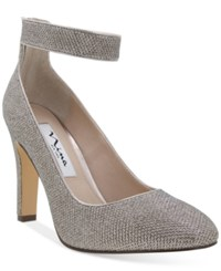 Nina Ivelis Ankle Stap Evening Pumps Women's Shoes Latte