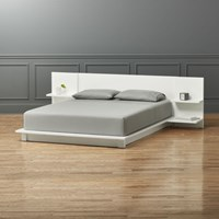 Cb2 Andes White King Bed