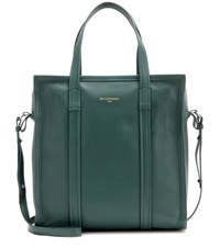 Balenciaga Leather Tote Green