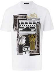 Versace 'Greek Graphic' T Shirt White