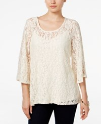 Styleandco. Style Co. Lace Bell Sleeve Top Only At Macy's Vintage Cream