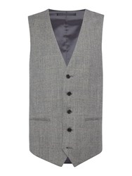 New And Lingwood Heywood Prince Of Wales Check Suit Waistcoat Grey