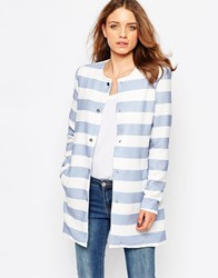 B.Young Striped Coat Combi 1 White