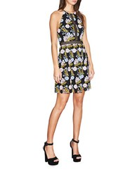 Cynthia Rowley Floral Lace Dress Black Multi